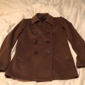 Theory Peacoat, light weight, dark camel color